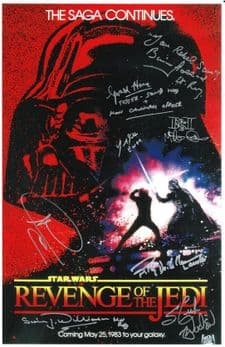 Star Wars Revenge of the Jedi  Autograph Signed Photo