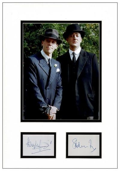 Stephen Fry & Hugh Laurie Autograph Display - Jeeves & Wooster