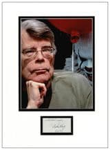 Stephen King Autograph Signed Display
