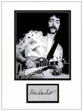 Steve Hackett Autograph Display - Genesis