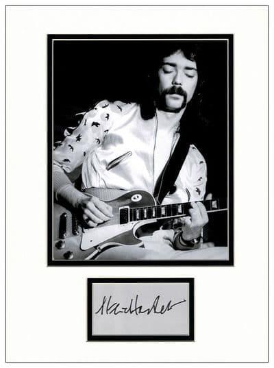 Steve Hackett Autograph Display - Genesis