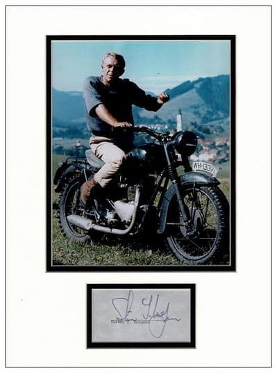 Steve McQueen Autograph Display - The Great Escape
