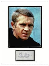 Steve McQueen Autograph Signed Display