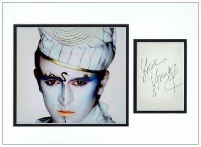 Steve Strange Autograph Signed Display