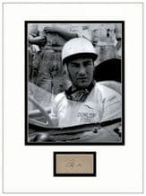 Stirling Moss Autograph Signed Display