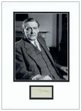T S Eliot Autograph Signed Display
