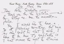 Ted Hughes Autograph Letter Signed