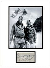 Tenzing Norgay Autograph Signed Display