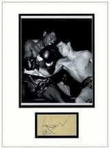 Terry Downes Autograph Signed Display