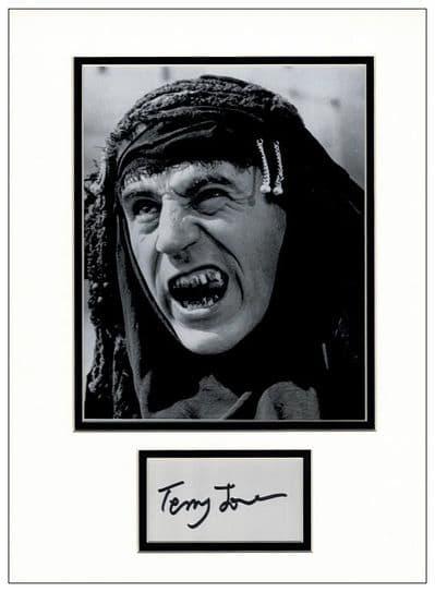 Terry Jones Autograph Display - Life of Brian