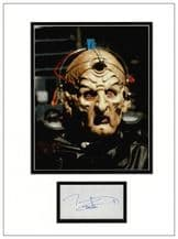 Terry Molloy Autograph Signed Display - Davros