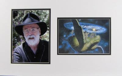 Terry Pratchett Autograph Signed Display For Sale