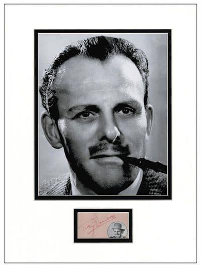 Terry-Thomas Autograph Display
