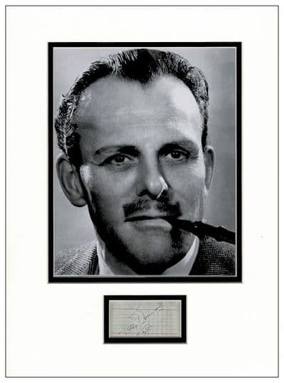 Terry-Thomas Autograph Signed Display