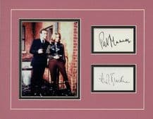 The Avengers Patrick Macnee & Honor Blackman Autograph Signed Display