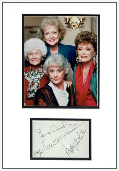 The Golden Girls Autograph Signed Display