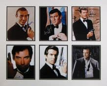 The Ultimate James Bond Autograph Signed Photo Display