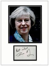 Theresa May Autograph Signed Display