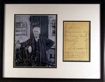 Thomas Edison Autograph Signed Letter Display