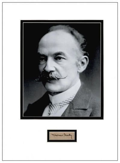 Thomas Hardy Autograph Signed Display