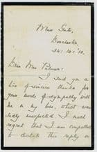 Thomas Hardy Signed Letter
