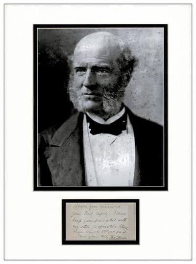 Thomas Hughes Autograph Note Display