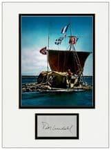 Thor Heyerdahl Autograph Signed Display - Kon-Tiki