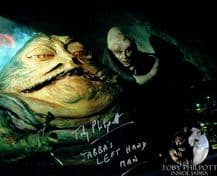 Toby Philpott Autograph Signed Photo - Jabba The Hutt