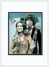 Tom Baker & Louise Jameson Signed Photo - Doctor Who