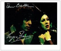 Tom Baker Myra Frances Autograph Signed Doctor Who