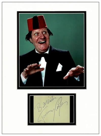Tommy Cooper Autograph Signed Display