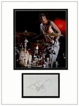 Tommy Lee Autograph Signed Display - Motley Crue
