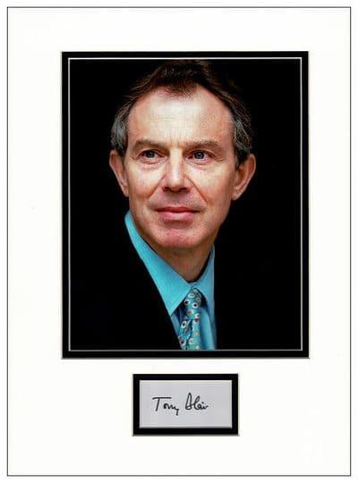 Tony Blair Autograph Signed Display