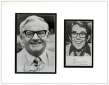 Two Ronnies Autograph Signed Display - Ronnie Barker & Ronnie Corbett