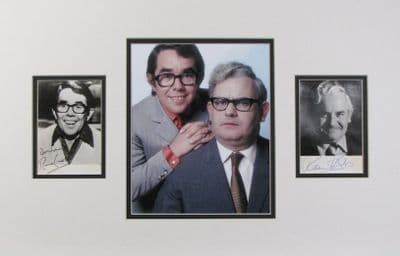 Two Ronnies Autograph Signed Photo Display