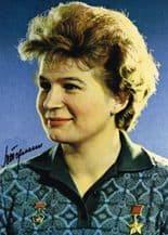 Valentina Tereshkova Autograph Signed Photo