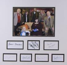 Vicar of Dibley Cast Autograph Signed Display