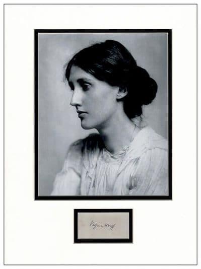 Virginia Woolf Autograph Display