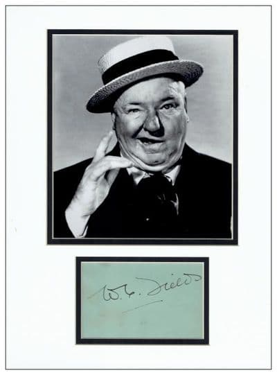 W C Fields Autograph Signed Display
