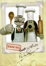 Wallace & Gromit Autograph Signed Photo - Nick Park