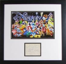 Walt Disney Autograph Display