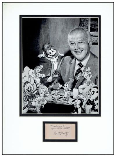 Walter Lantz Autograph Signed Display - Woody Woodpecker