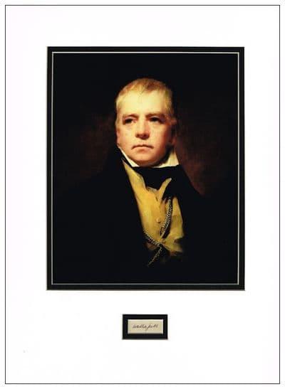 Walter Scott Autograph Signed Display