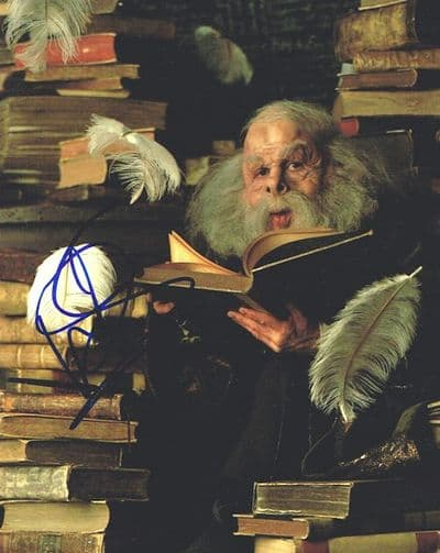 Warwick Davis Autograph Signed Photo - Professor Flitwick