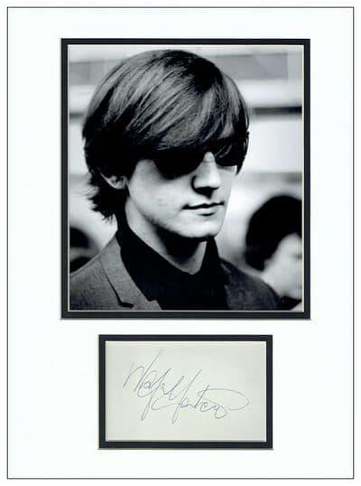 Wayne Fontana Autograph Signed Display