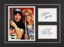 Wayne's World Autograph Display - Mike Myers & Dana Carvey