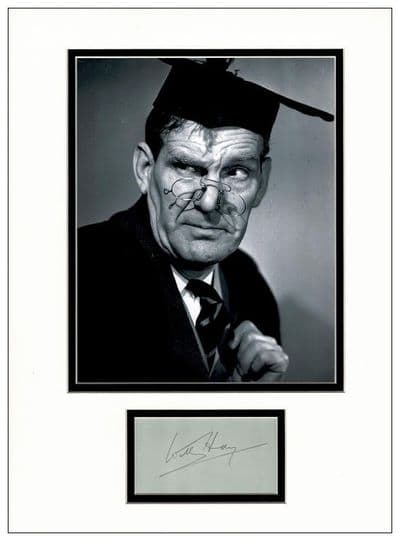 Will Hay Autograph Signed Display