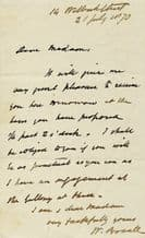 William Boxall Autograph Letter Signed SOLD