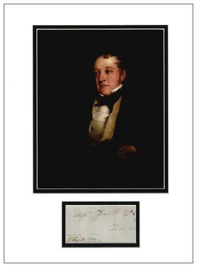 William Huskisson Autograph Signed Display