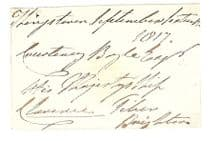 William IV Autograph Signed Envelope